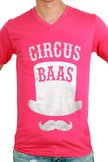 Toppers, T-shirt heren, Circus Baas, pink