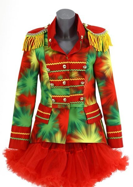 Zomerjas Kort Dames.Dames Carnavals Jas Kort Model Oeteldonk Print
