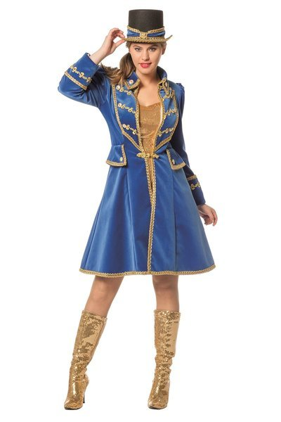 Blauwe markies jas dames