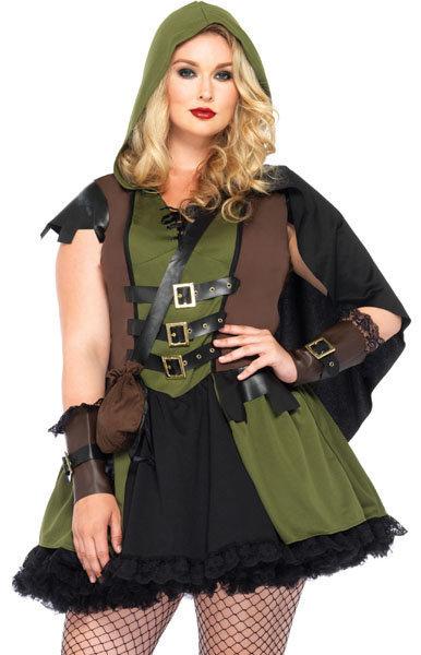 Robin hood jurk dames groen feest thema winkel bas - Deguisement robin des bois fille ...