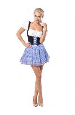 tiroler jurk blauw